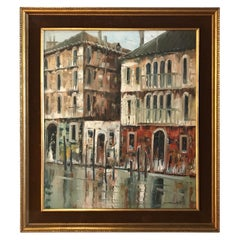 Original Oil Painting of a Venetian Canal
