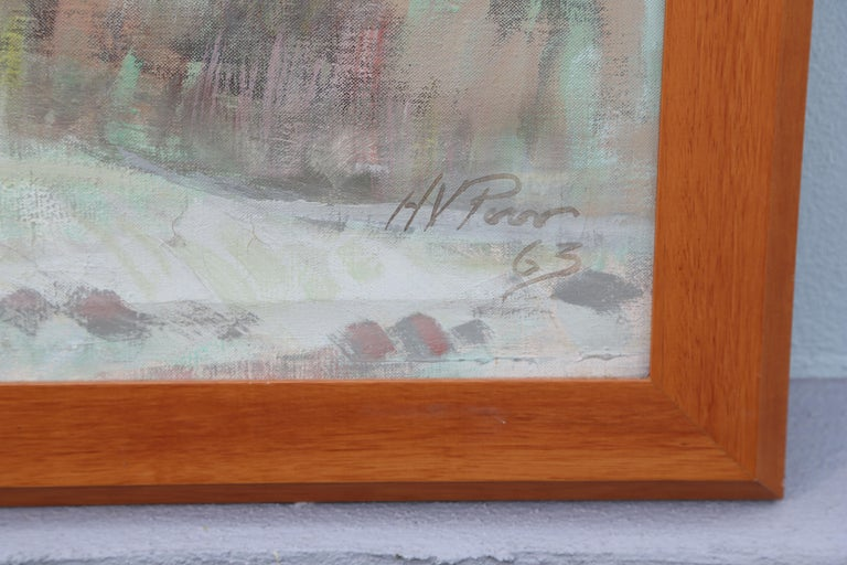 20th Century Original Oil Painting of Maine Landscape by Henry Varnum Poor For Sale