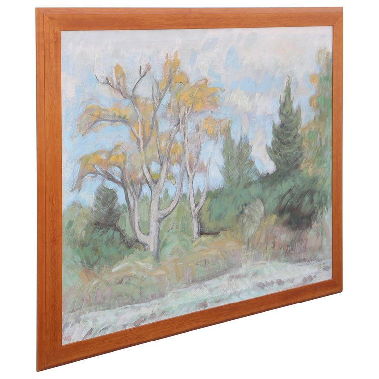 Original Oil Painting of Maine Landscape by Henry Varnum Poor For Sale