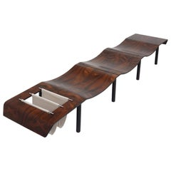 "Original ""Onda"" Bench by Jorge Zalszupin, L'Atelier Moveis Label, 1959-1969"