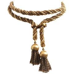 Original One-of-a-Kind Bulgari 18 Karat Solid Yellow Gold Adjustable Necklace