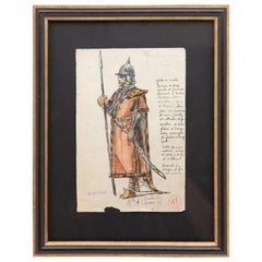 Original Opera and Theatre Costume Watercolor Design by Charles Betout, Paris