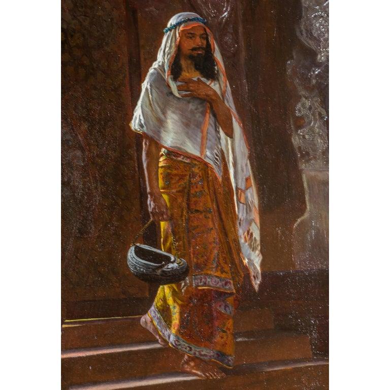 Rudolf Ernst Austrian, 1854-1932  Signed R. Ernst   Oil on panel 21 5/8 x 17 7/8 inches  Framed: 36 x 30 inches.