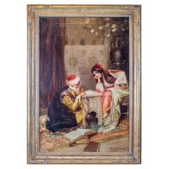 Original Orientalist Painting by Amedeo Simonetti, Signed, circa 19th Century