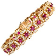 Original Oscar Heyman Ruby and Diamond Bracelet
