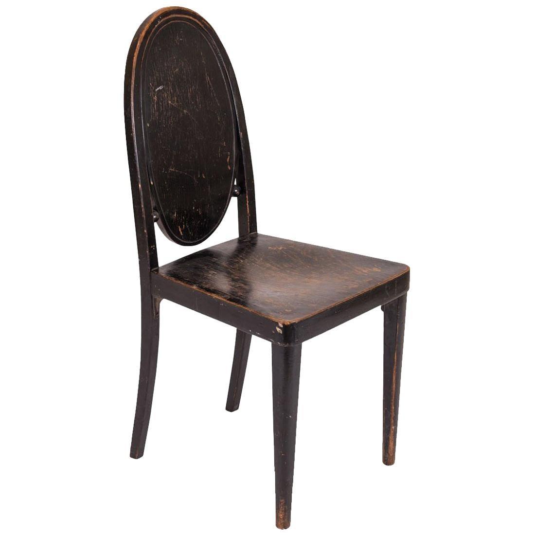 Original Otto Prutscher & Gebrueder Thonet Vienna Jugendstil Chair, 20th Century