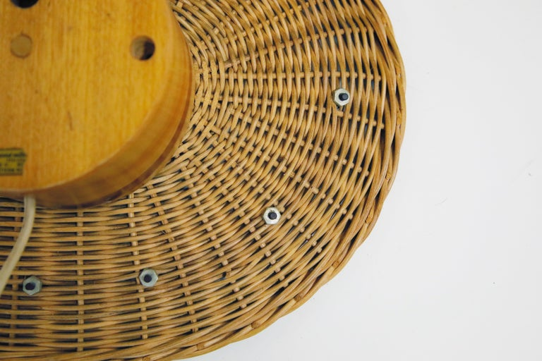 Original Oval Rattan 'Basket Clock' by George Nelson for Howard Miller, 1950s For Sale 8