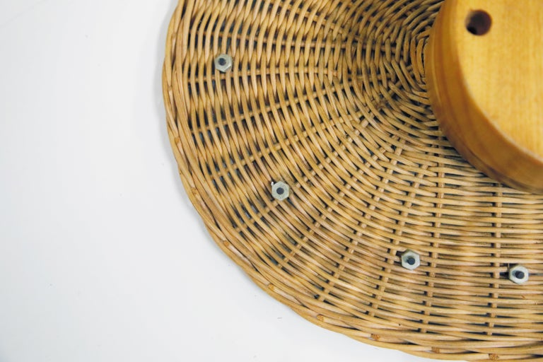 Original Oval Rattan 'Basket Clock' by George Nelson for Howard Miller, 1950s For Sale 9