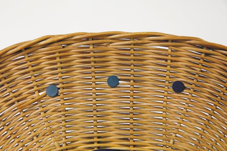 Original Oval Rattan 'Basket Clock' by George Nelson for Howard Miller, 1950s For Sale 1