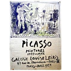Original Pablo Picasso Poster, 1957, Galerie Louise Leiris
