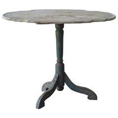 Original Paint 18th Century Swedish Rococo Tilt-Top Table