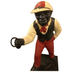 Original Paint Decorated Lawn Jockey
