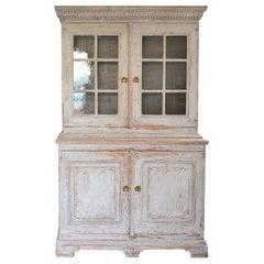 Original Paint Swedish Early 19th Century Glazed Cabinet