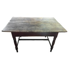 Original Painted Base Table with Two Board Top