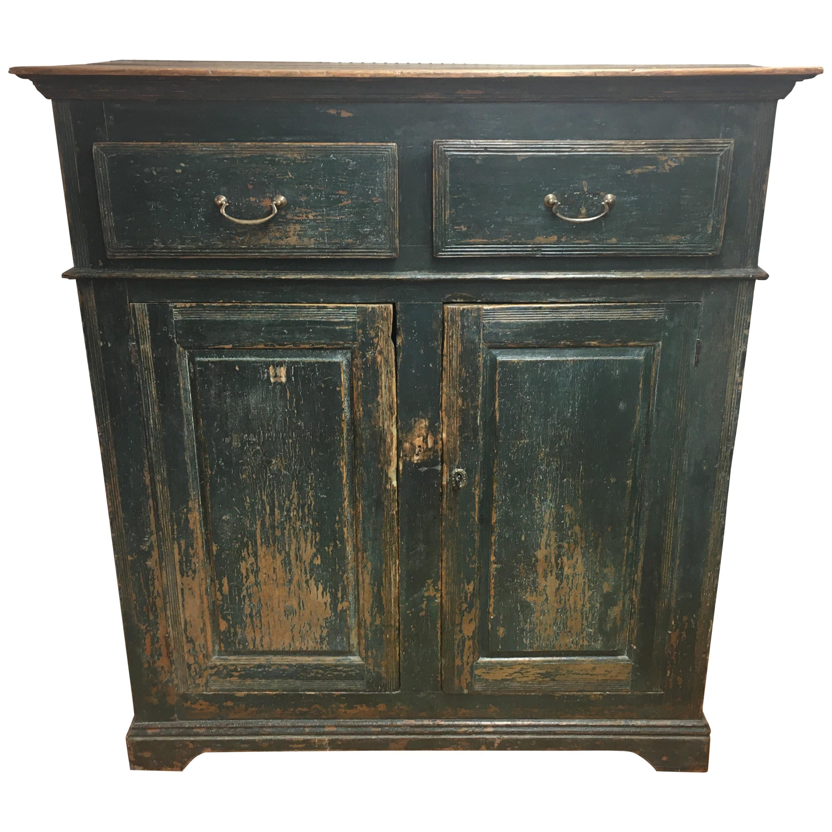 Original Painted Canadian 2 Door, 2 Drawer Large Buffet