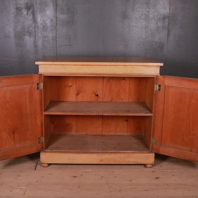 Pine Original Painted French Buffet For Sale