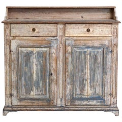 Original Painted Gustavian Sideboard with Original Lock, circa 1800