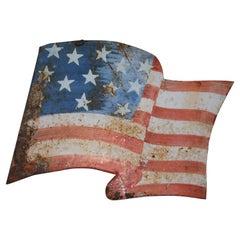 Original Painted Metal Parade Flag
