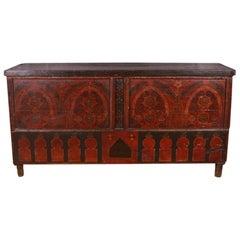 Original Painted Moorish Coffer