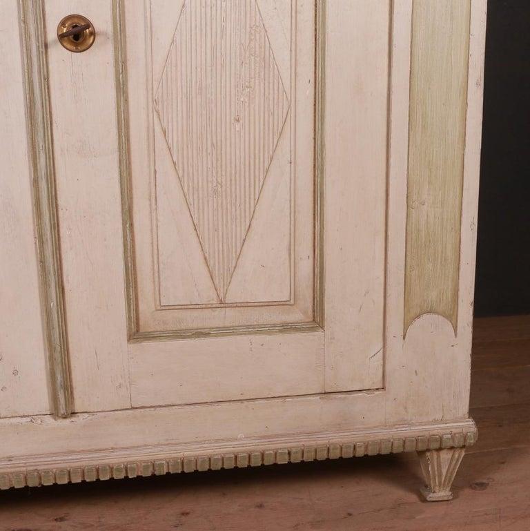 Pine Original Painted Swedish Buffet For Sale