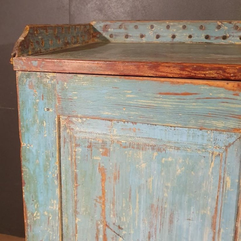 Hand-Painted Original Painted Swedish Gustavian Buffet For Sale