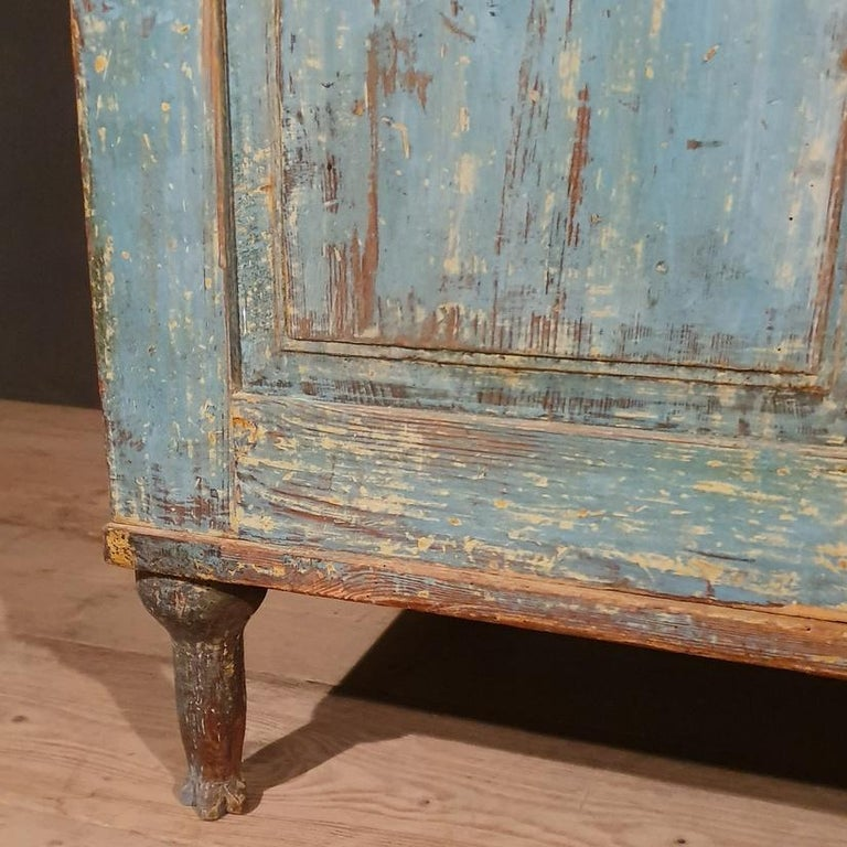 Original Painted Swedish Gustavian Buffet In Good Condition For Sale In Leamington Spa, Warwickshire