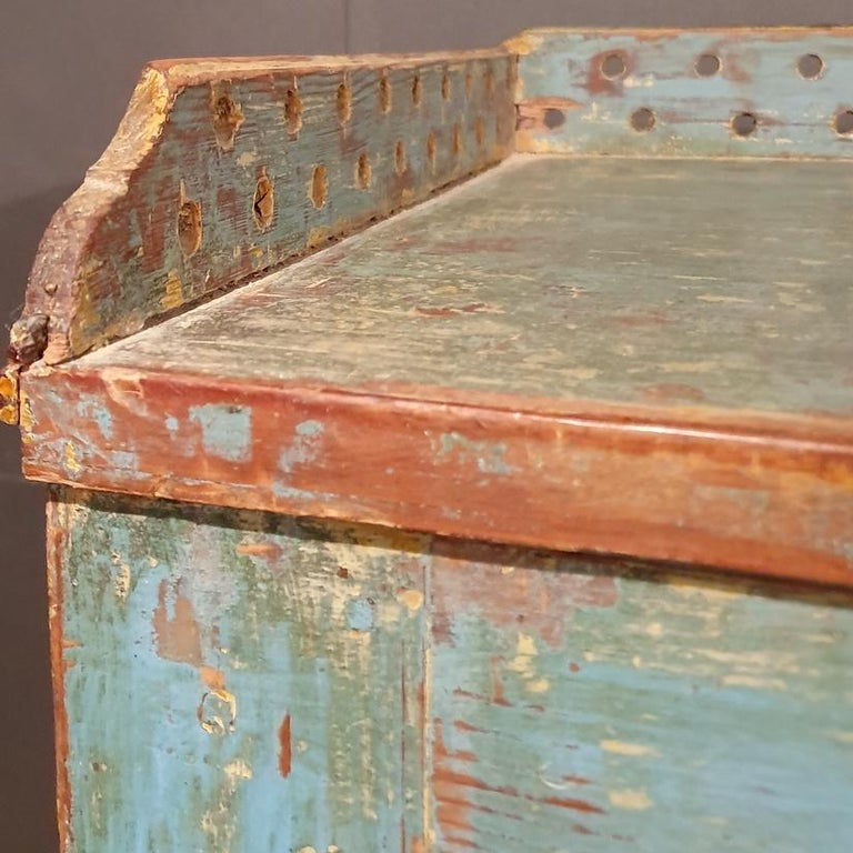 Pine Original Painted Swedish Gustavian Buffet For Sale
