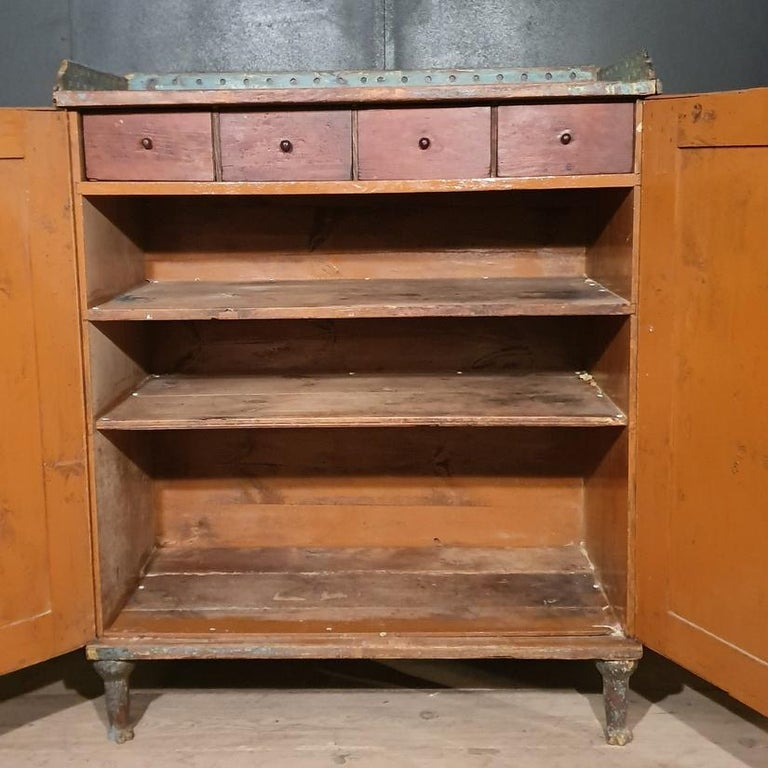 Original Painted Swedish Gustavian Buffet For Sale 1