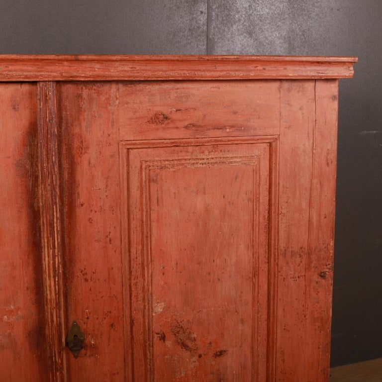 Original Painted Swedish Gustavian Buffet / Sideboard In Good Condition For Sale In Leamington Spa, Warwickshire
