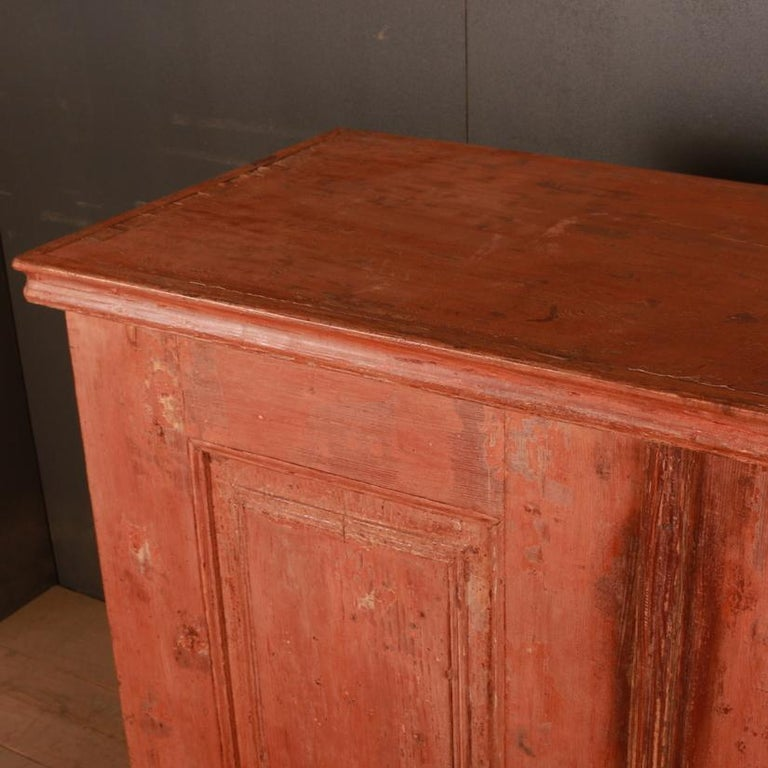 19th Century Original Painted Swedish Gustavian Buffet / Sideboard For Sale