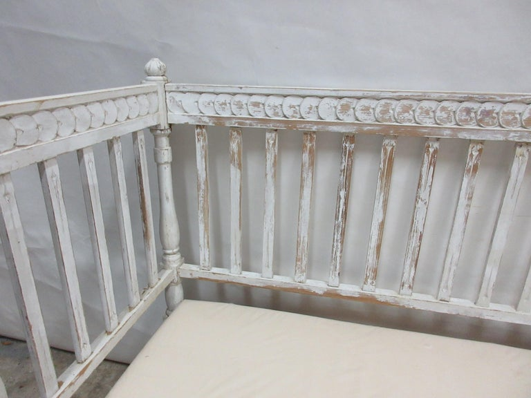 Late 19th Century Original Painted Swedish Gustavian Sofa For Sale