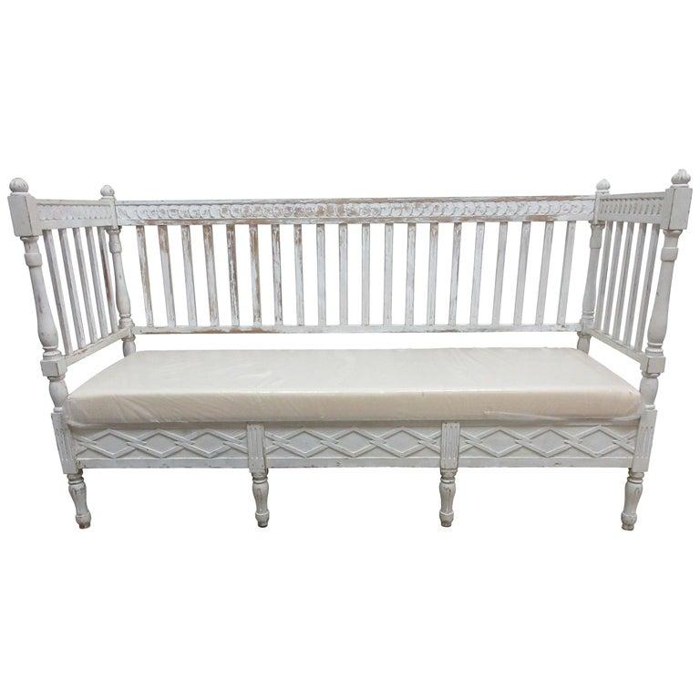 Original Painted Swedish Gustavian Sofa For Sale