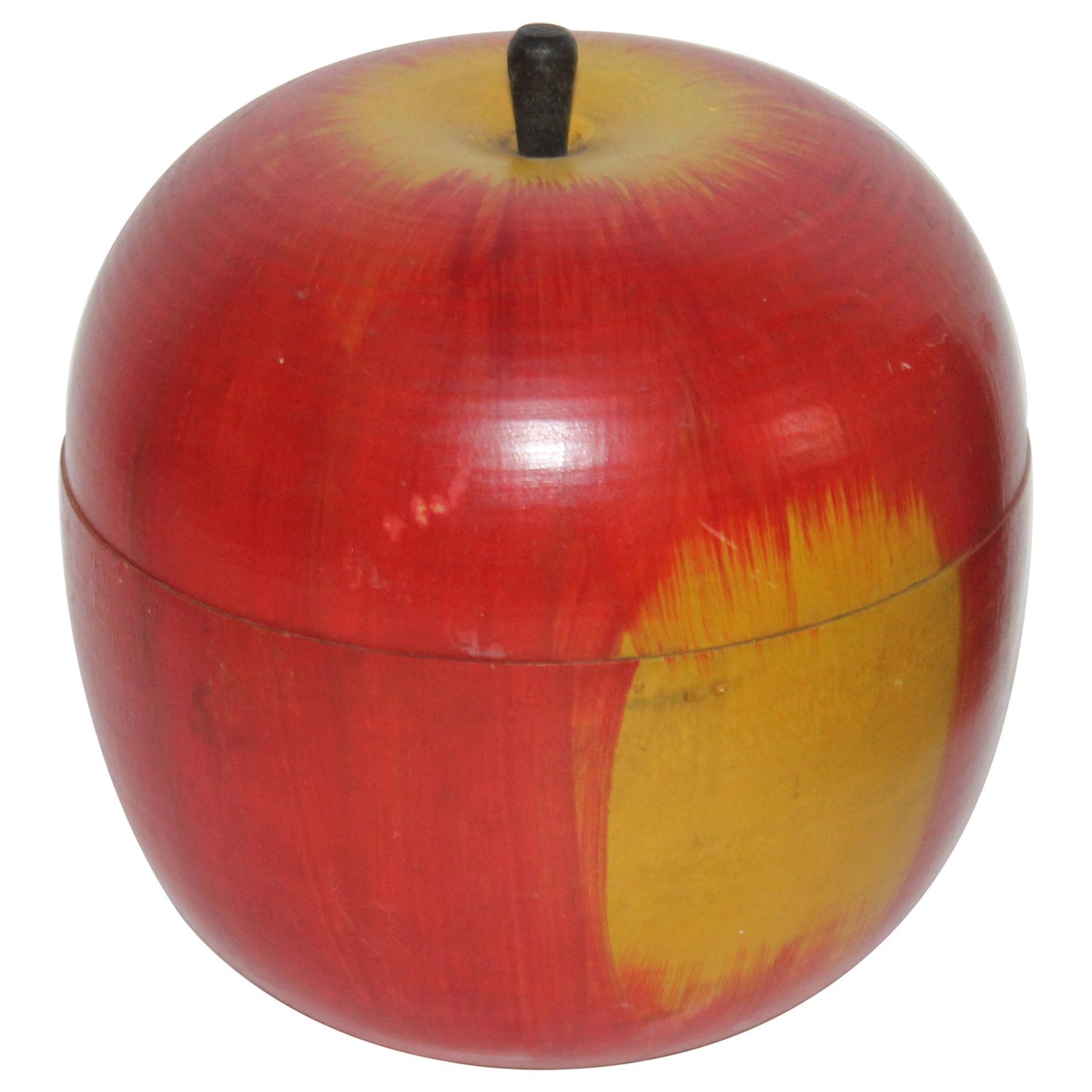 Original Painted Wood Apple