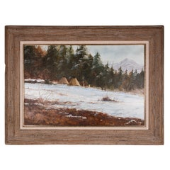 "Original Painting ""A Closing of Winter"" by Thomas DeDecker"