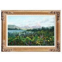 """Original Painting """"Arrow Leaf Balsamroot"""" by Thomas DeDecker"""