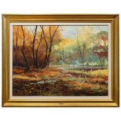 "Original Painting ""Autumn Camp"" by Thomas deDecker"