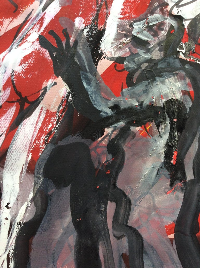 Original expressionist painting by Bernardo Damiano (also known as Bernard Damiano).   He was an Italian expressionist painter and sculptor born on January 10, 1926 in Coni  (Piemonte), Italy and died in Nice, France on June 24, 2000. His