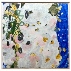 Original Painting Commissioned Avon Fragrance Extra Large Floral Abstract Oil