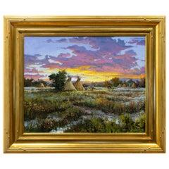 "Original Painting ""Evening Encampment"" by Thomas deDecker"