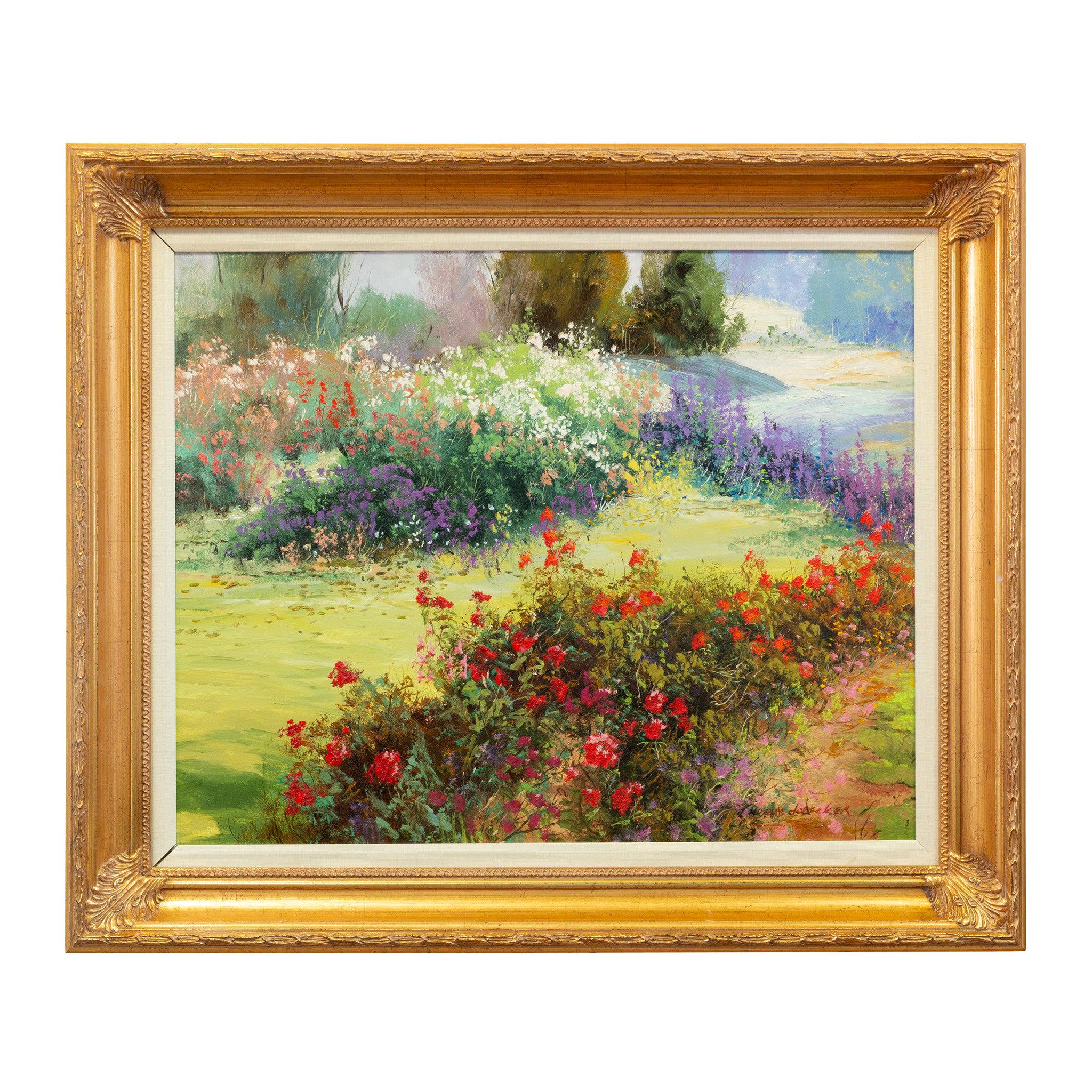 """Original Painting """"Garden Pathways"""" by Thomas deDecker"""