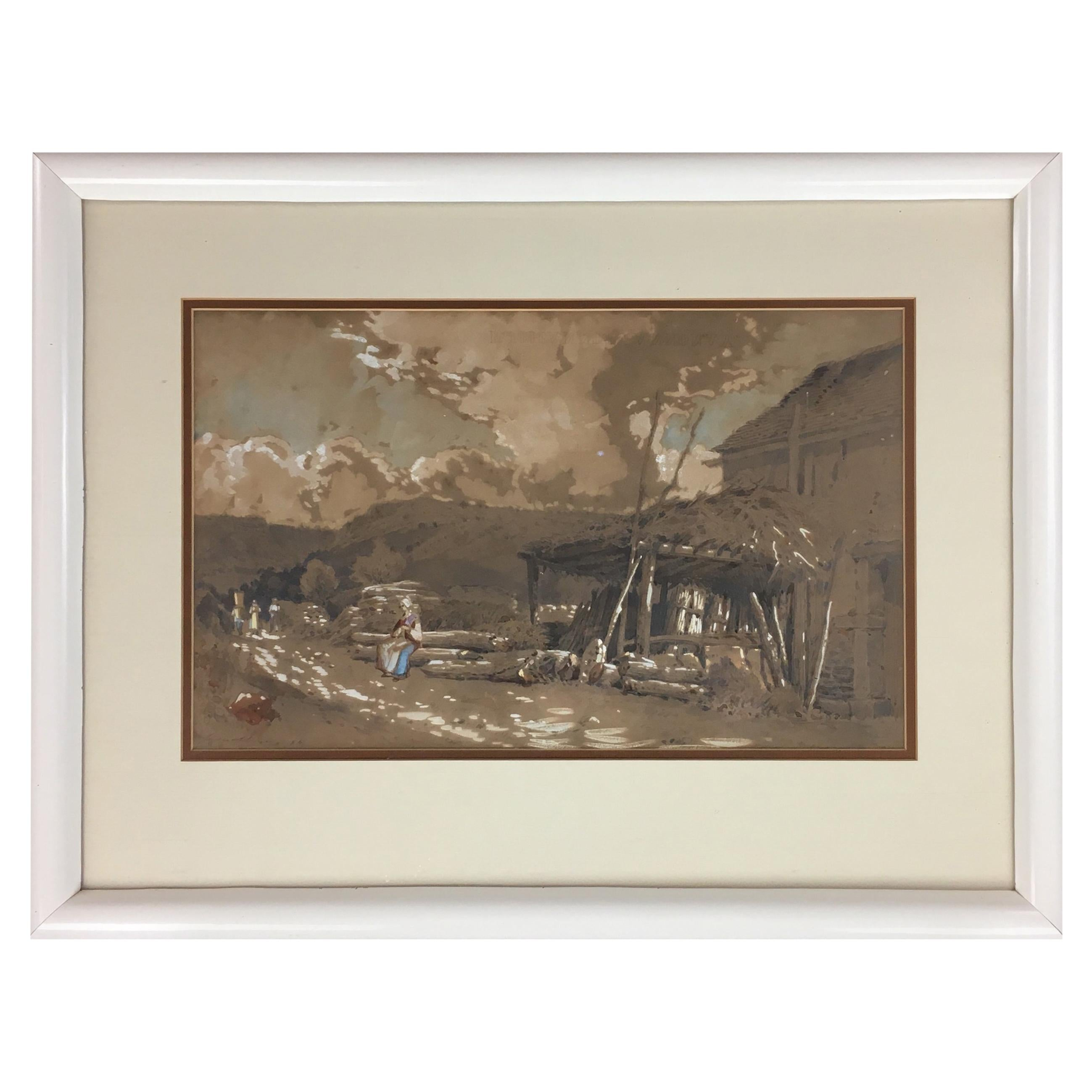 Post Impressionist Painting Brittany Landscape, Signed and Dated 1894