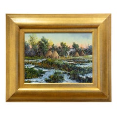 "Original Painting ""Late Spring Encampment"" by Thomas DeDecker"