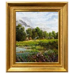 "Original Painting ""Northern Plains Encampment"" by Thomas deDecker"
