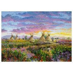 "Original Painting ""Northern Plains Sunset"" by Thomas DeDecker"