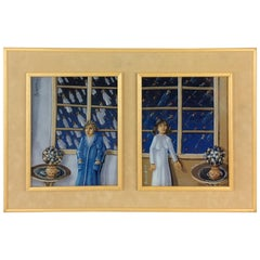 Original Reverse Glass Painting  by Ivicevic Slododan