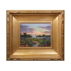 "Original Painting ""Peaceful Sunset"" by Thomas DeDecker"