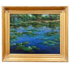 "Original Painting ""Pond Serenity"" by Thomas DeDecker"