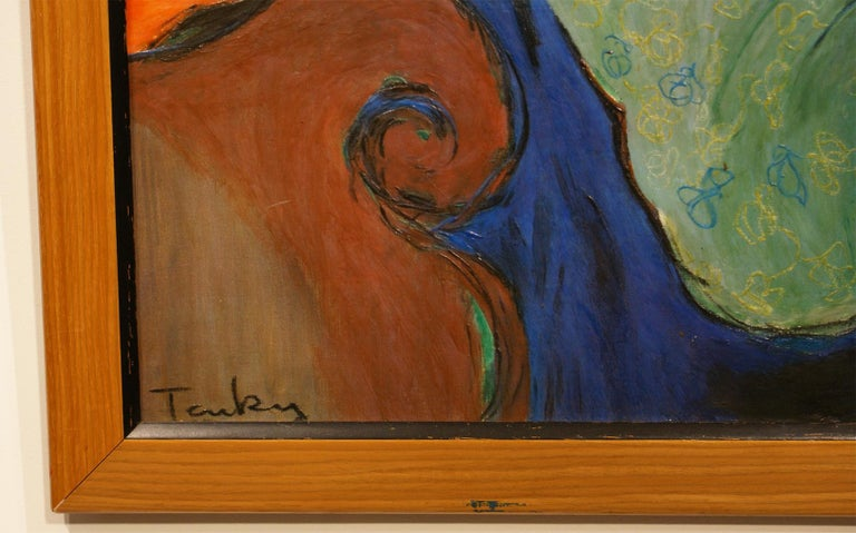Expressionist Original Painting Signed by Itzchak Tarkay For Sale