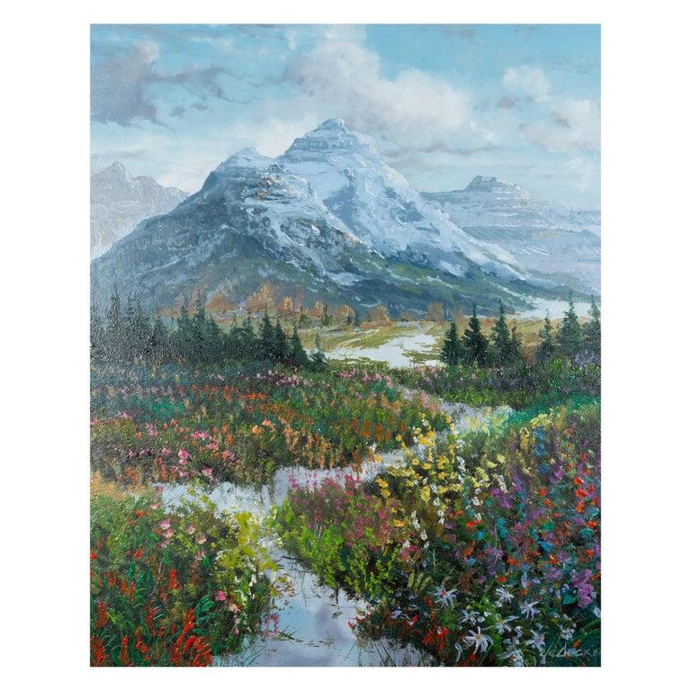 (1951-). Oil on canvas; 20