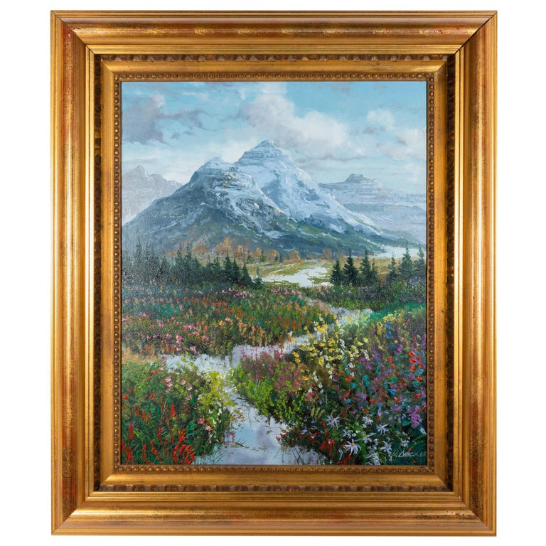 """Original Painting """"Spring"""" by Thomas deDecker For Sale"""